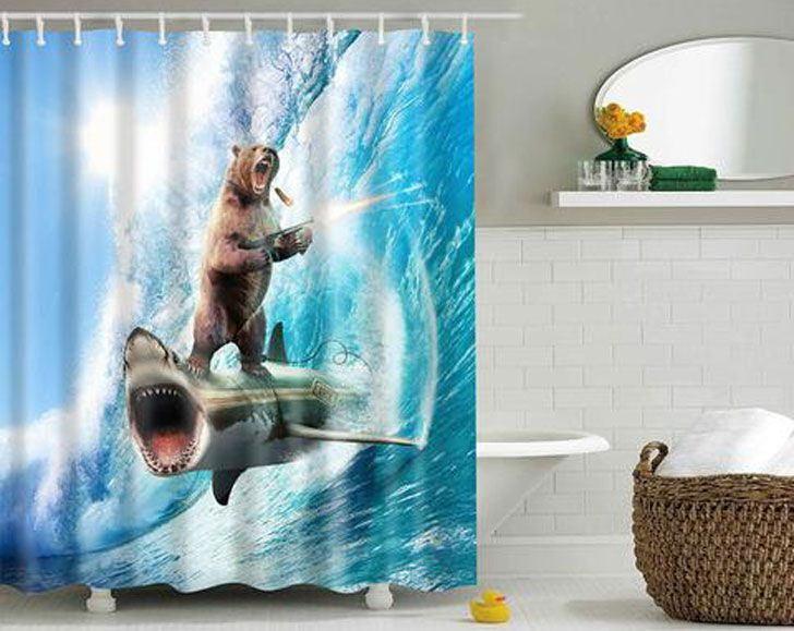 75 Coolest Shower Curtains For A Unique Bathroom Animal Shower