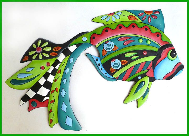 224 Best Tropical Fish Designs Painted Metal Home Decor Images On Pinterest Design Pisces And