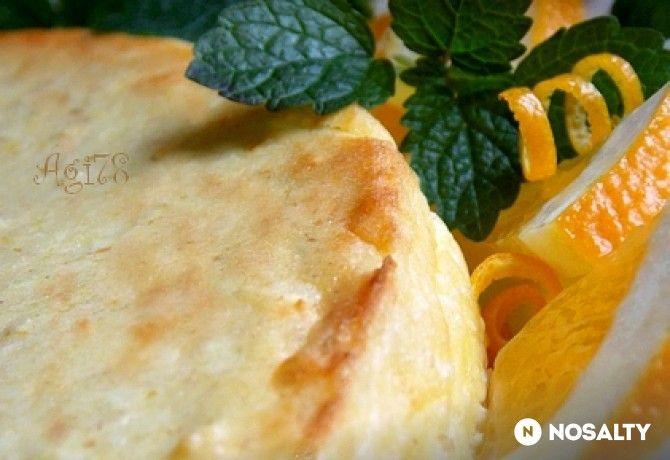 Citrusos sajttorta túróval  liszt és cukor nélkül