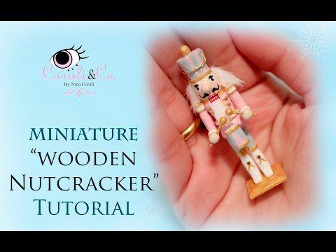 Miniature Christmas Wooden Nutcracker Tutorial - Cascanueces de Madera (Subtitulado en Español) - YouTube
