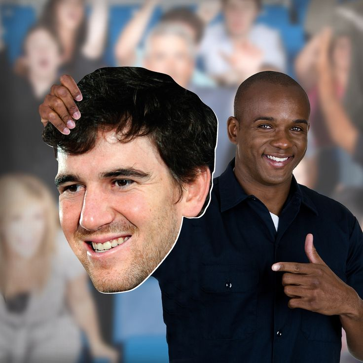NFL Sports | Now you can get your head in the game with your very own cut out of Eli Manning's face. Unlike giant head posters or other player head photos, NFL Big Heads are sturdy and big enough to stand out in any crowd. SHOP http://www.fathead.com/nfl/new-york-giants/eli-manning-big-head/ | Football