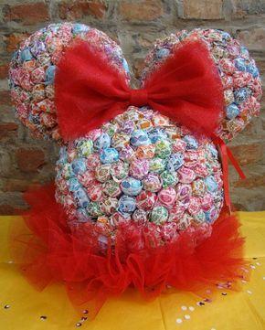 Adorno de caramelos para cumpleaños de Minnie