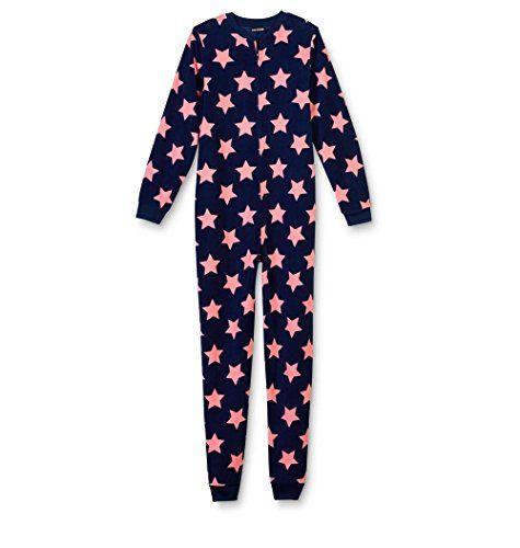 fb57fa0cfe Joe Boxer Girls Joe Boxer Navy Blue Stars Fleece Blanket Sleeper Pajamas  Size Medium7 8