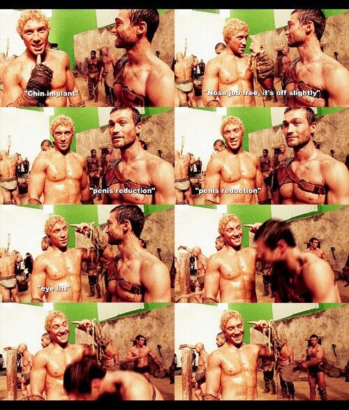 Jai Courtney - Andy Whitfield - Spartacus Blood and Sand - behind scenes