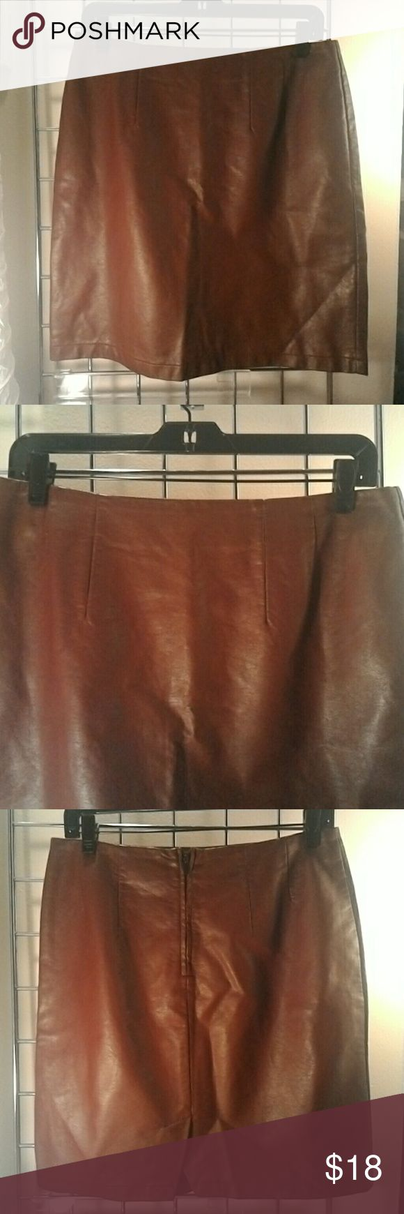 H&M burgundy imitation leather A-line Skirt Beautiful A-line Skirt great all year round. Never worn no tags. H&M Skirts A-Line or Full