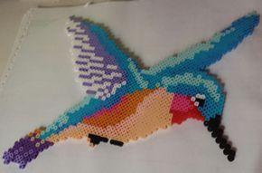Hummingbird perler beads by Scarlett-Ibis