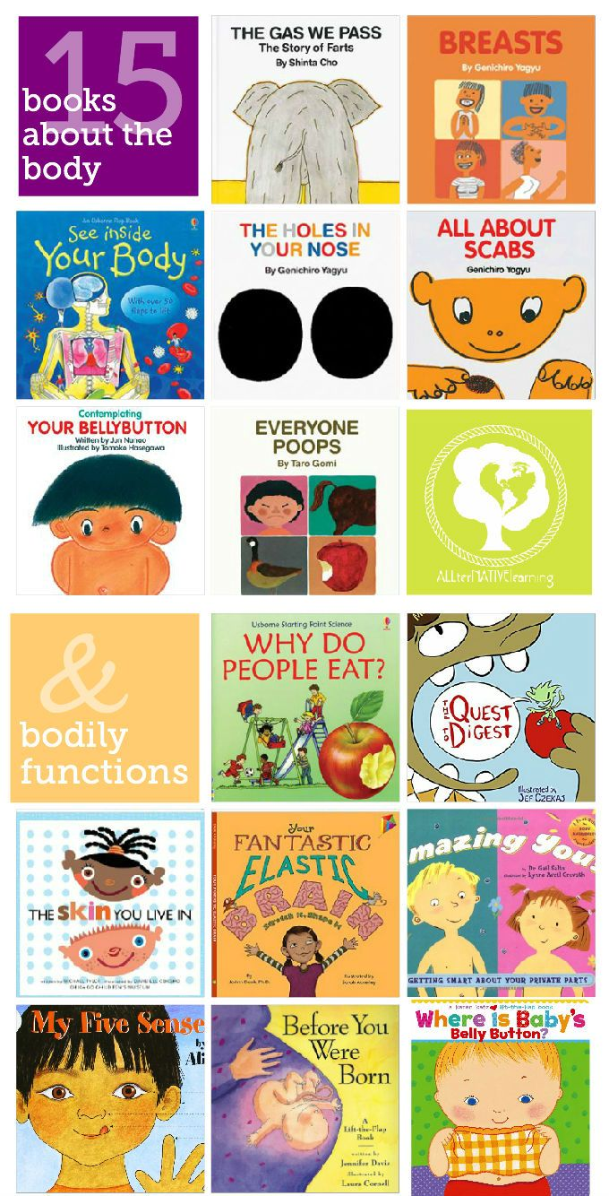 Books for tot school and preschool about the body and bodily functions