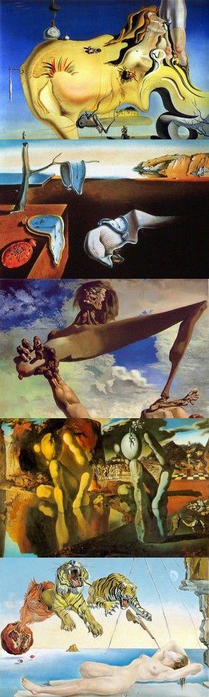 Cinque importanti e famose opere di Salvador Dalí