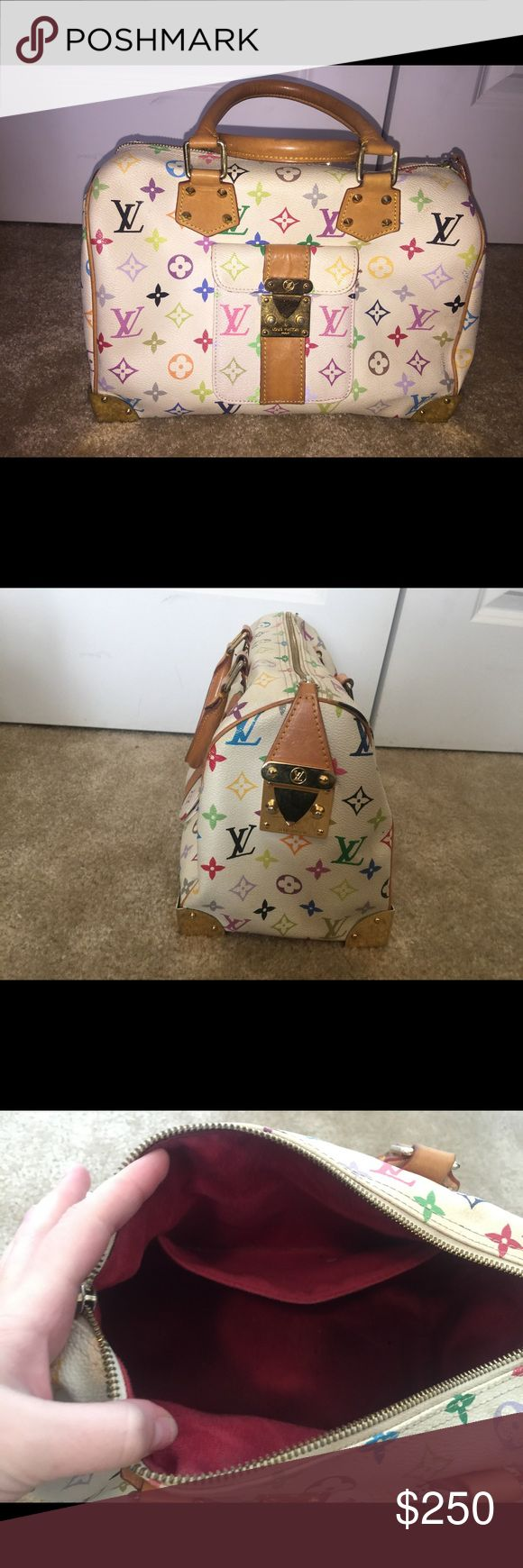 Authentic Louis Vuitton Speedy 40 MultiColor White MultiColor Louis Vuitton. Authentic (code in pocket) Lots of room. More pics can be provided upon request. Louis Vuitton Bags