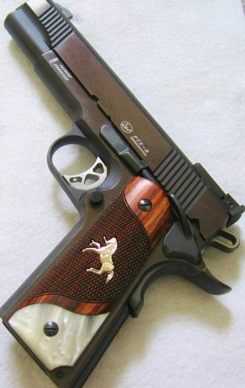 Details about COLT 1911 GRIPS SILVER Rampant Pony ...