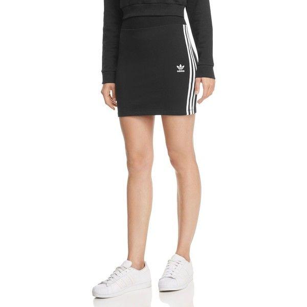adidas Originals Three Stripe Skirt ($30) ❤ liked on Polyvore featuring skirts