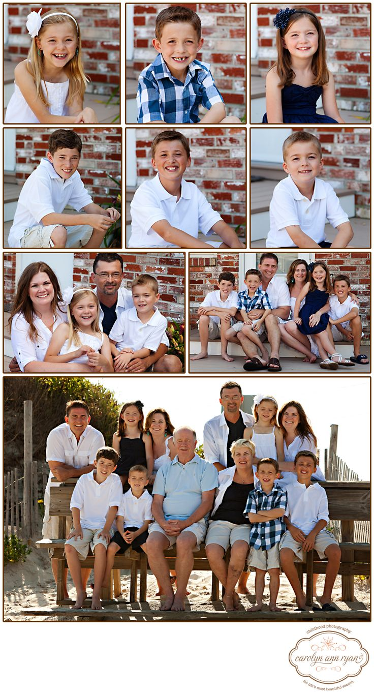 Extended Family Portraits photographed in Long Beach Island - Summer Portraits  Photos by Carolyn Ann Ryan Photography