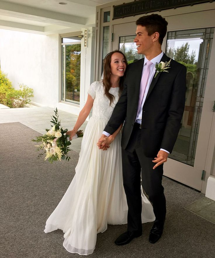 modest wedding dress with short sleeves from alta moda. --(modest bridal gowns)---
