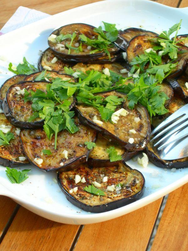 Salade d'aubergines cuites à la Plancha -By Une Autre cuisine
