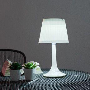 Lampe à poser solaire blanche Jesse à LED, référence 4018066 - Lampes décoratives pour l'extérieur : guirlandes lumineuses, lampes solaires à découvrir chez Luminaire.fr !