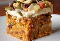 A Healthy Carrot Cake Recipe that not only tastes delicious but is good for you too. Don't you just love a healthy cake indulgence. Gluten free, sugar free, dairy free, eggless.