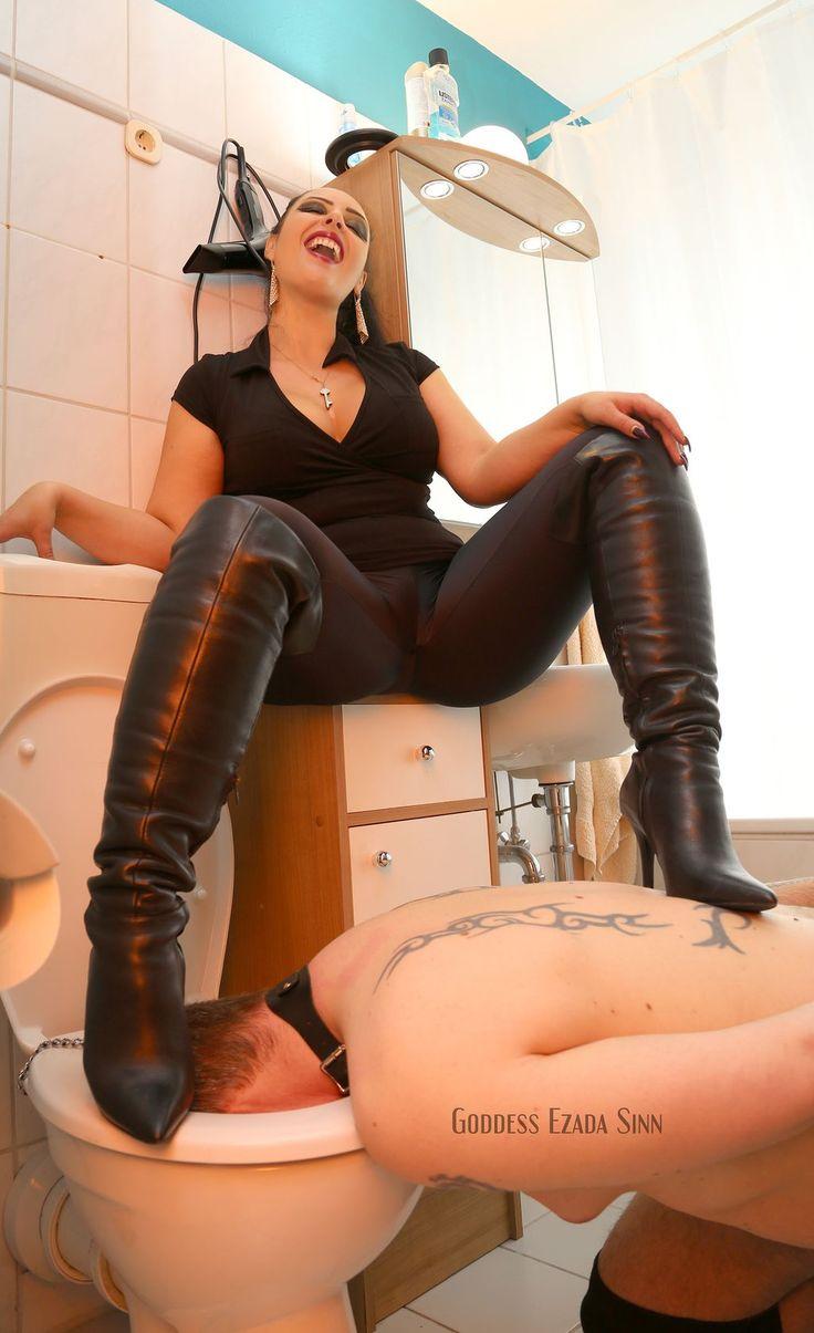 Shemale toilet slave