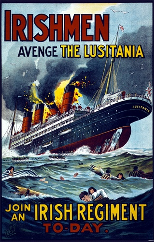 Lusitania - 1915 Recruitment Poster by Johnny Oceanic, via Flickr