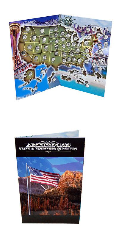 State Quarter Map Book- U.S.A State Quarter Collection Book ...
