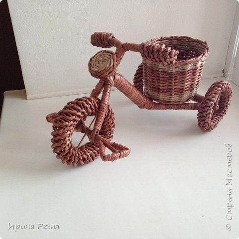 Поделка изделие Плетение Мои плетёнки по МК опытных мастеров Бумага газетная Трубочки бумажные фото 12