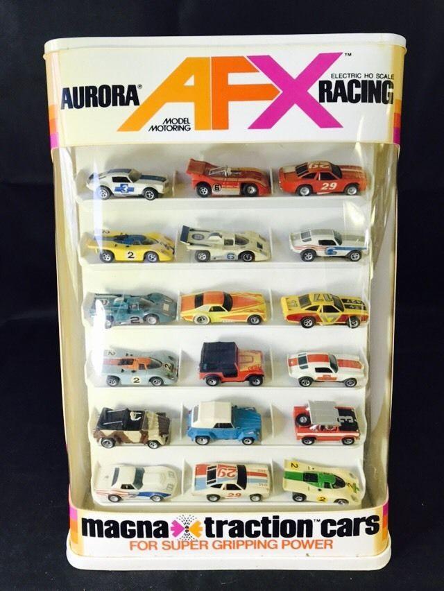 RARE Vintage Aurora Racing Magnatraction Store Display Case