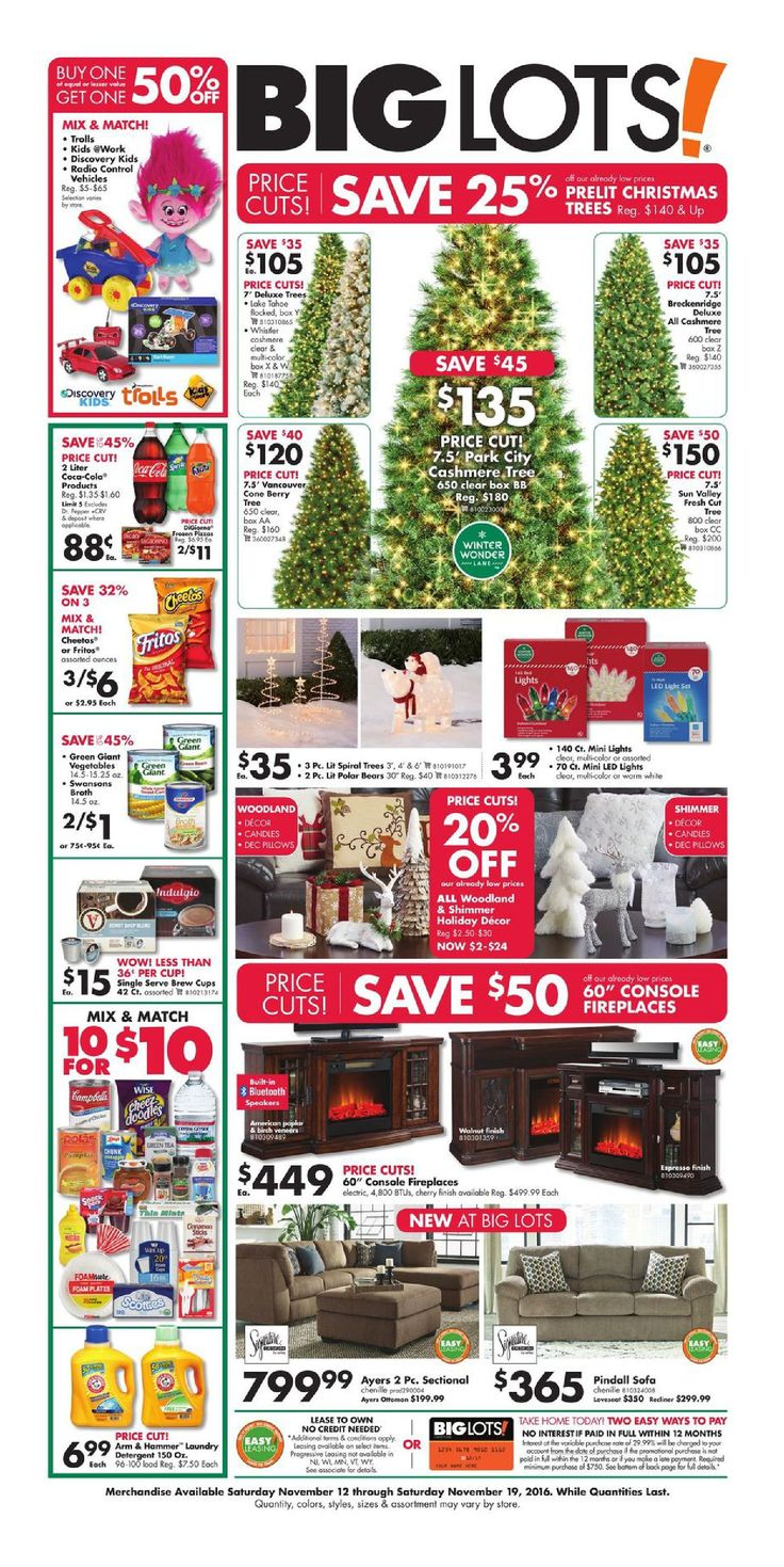 Big Lots Furniture November 12 - 19, 2016 - http://www.olcatalog.com/home-garden/big-lots-weekly-ad.html