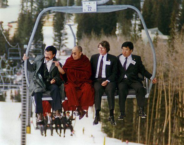 The Dalai Lama's Ski Trip: What I learned in the slush with His Holiness   Slate.com