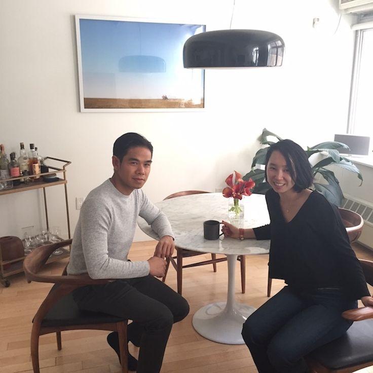 国際結婚カップルのミニマルでフォトジェニックな暮らしNYブルックリンみんなの部屋