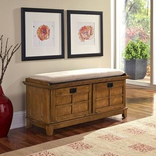 Arts and Crafts Upholstered Storage Bench by Home Styles | Overstock.com Shopping - The Best Deals on Benches