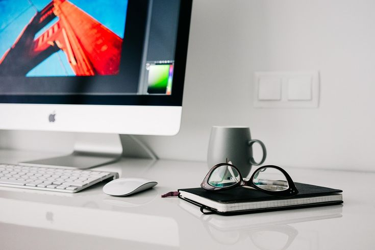 Office, Home, Glasses, Workspace, Desktop, Notebook