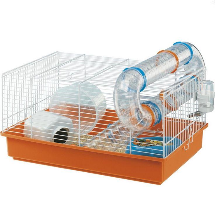 Ferplast Paula Hamster Cage One Size Orange/Blue/Gray