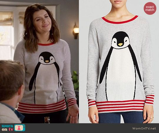 Annie's penguin sweater on Marry Me.  Outfit Details: http://wornontv.net/44142/ #MarryMe