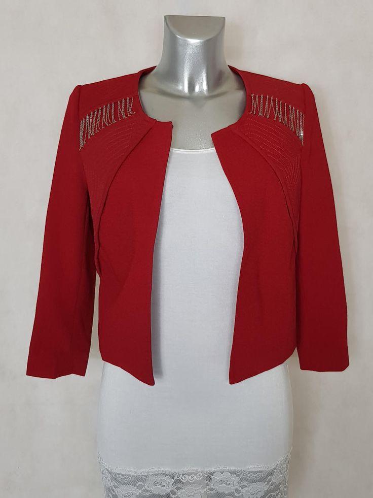 bol ro ou veste bol ro femme rouge grenat unie avec cha nes manches 3 4 habill et chic. Black Bedroom Furniture Sets. Home Design Ideas