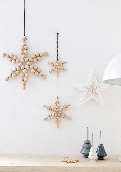 wooden bead stars