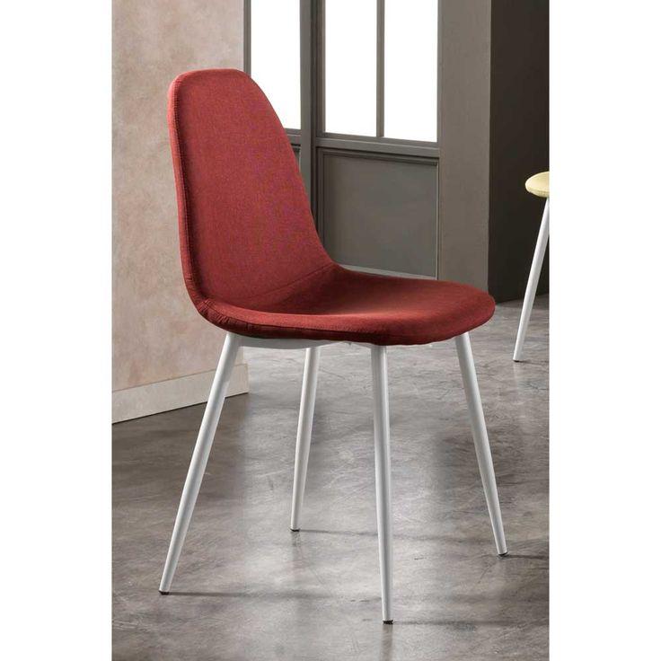 stuhl in rot wei stoff 4er set jetzt bestellen unter httpsmoebelladendirektdekueche und esszimmerstuehle und hockeresszimmerstuehleuid - Hervorragendes Rotes Esszimmer Design