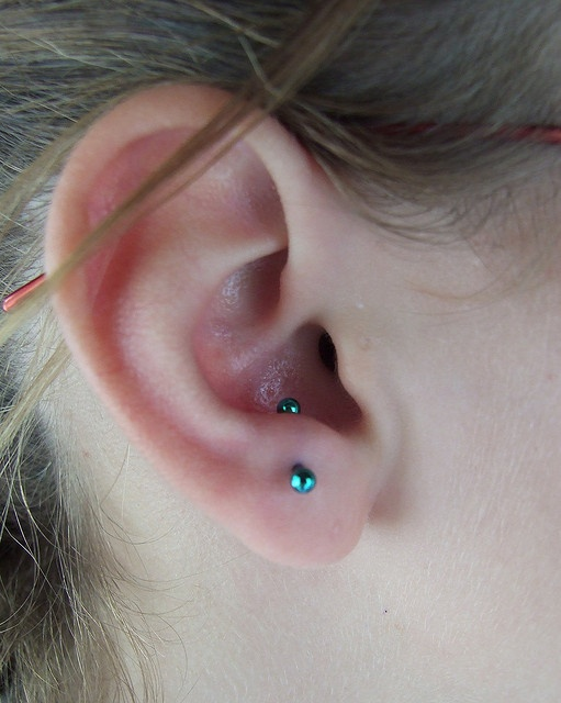 fresh 16g anti-tragus piercing by Aestheticsbodymod, via Flickr
