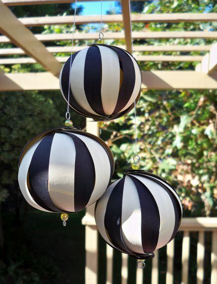 Black and White Paper Balls