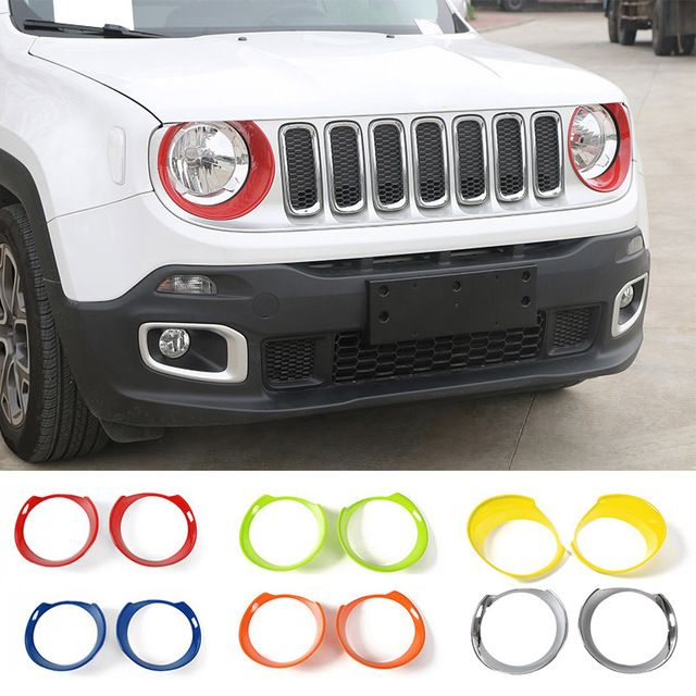 Mopai Abs Car Front Head Light Lamp Decoration Cover Stickers For