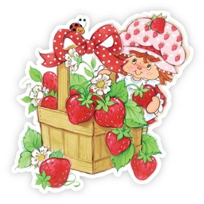 Strawberry Shortcake Wall Graphics from Walls 360: Strawberry Shortcake with Strawberry Basket