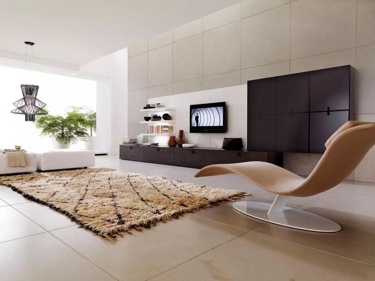 Salotto moderno hi-tech con  materiali di altà qualità e cura dei dettagli