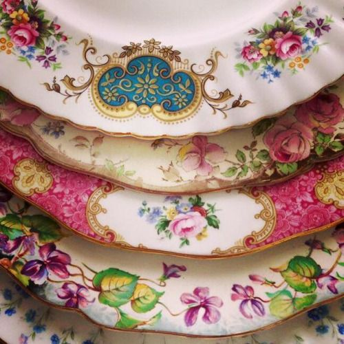 """berengia: """"Beautiful vintage Royal Albert and Royal Doulton dinner plates available for hire! Visitwww.jacarandahire.com.au for more info! """""""