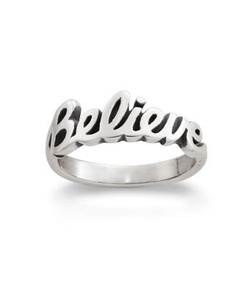 "NEED THIS. ""Believe"" Ring 