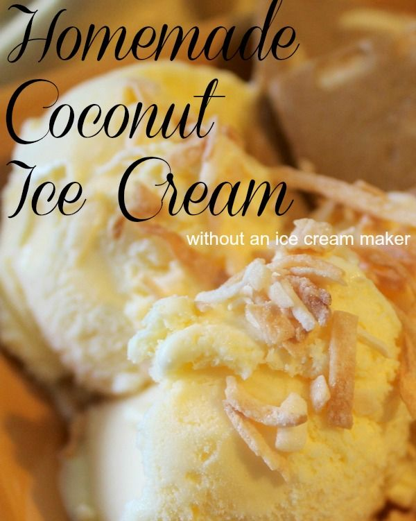 how to make coconut ice cream without a machine