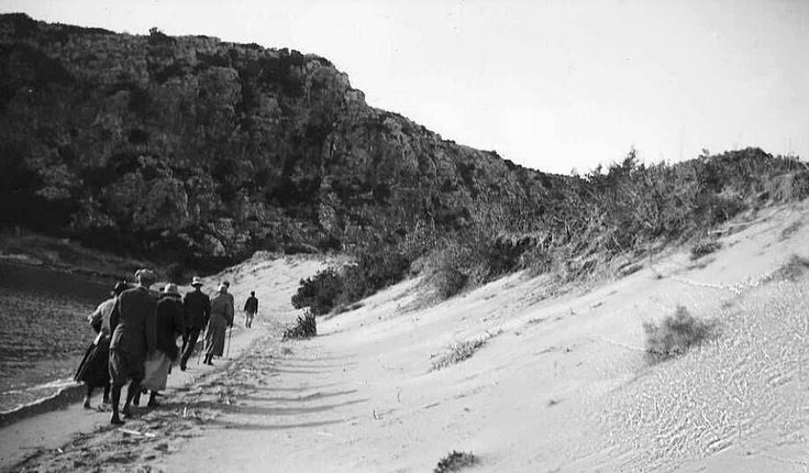 Dorothy Burr Thompson Ξένοι επισκέπτες στην παραλία της Πύλου το 1923.