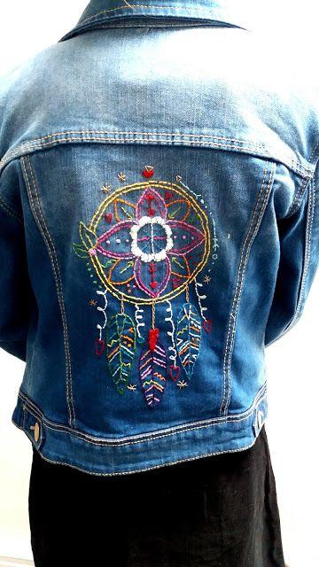 Denim jacket embroidery visit my blog for details.