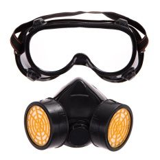 HDL Dual Gas Filter Anti Dust Paint Respirator Mask Goggles IndustrialSafety (Intl)