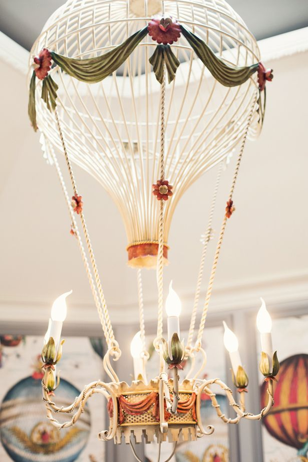 hot air balloon chandelier, the Saint James Paris