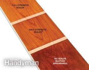 How to stain wood evenly without getting blotches and dark spots.  Results of the sealer test