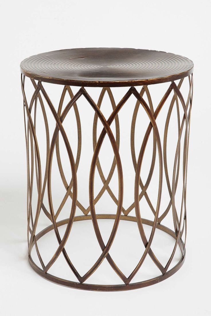 Round metal side table - Concentric Metal Side Table