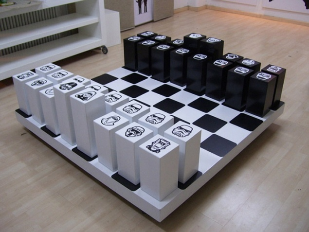 starwars chess installation (sereal designers). Because how else would war games be fun?
